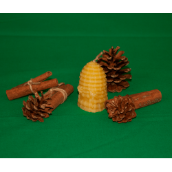 Bee skep-shaped candle