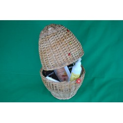 Egg-shaped gift basket for...