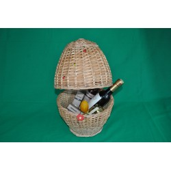 Premium egg-shaped gift basket